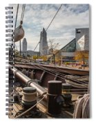 Cleveland From The Deck Of The Peacemaker Spiral Notebook