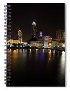 Cleveland Lakefront Nightscape Spiral Notebook