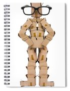 Clever Box Character Wearing Glasses Spiral Notebook