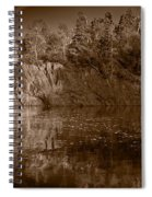 Cliff Face Northshore Mn Bw Spiral Notebook