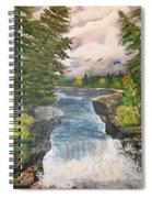 Cliff Falls Spiral Notebook