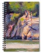 Cliff Jumping Spiral Notebook