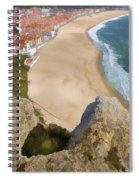 Cliff Of The Seaside Village Of Nazare Spiral Notebook