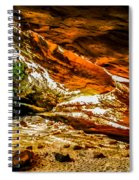 Cliff Rocks And Waterfall Spiral Notebook