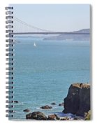 Cliffs Near Golden Gate Bridge Spiral Notebook
