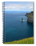 Cliffs Of Moher Looking North Spiral Notebook
