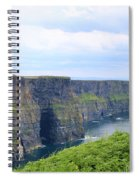 Cliffs Of Moher Panorama 3 Spiral Notebook