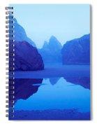 Cliffs On The Coast At Dawn, Meyers Spiral Notebook