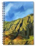 Cliffs On The Na Pali Coast Spiral Notebook