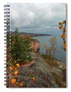 Cliffside Fall Splendor Spiral Notebook