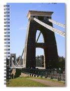 Clifton Suspension Bridge Bristol Spiral Notebook