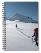 Climbers Nearing The Summit Spiral Notebook