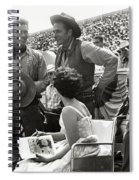 Clint Eastwood  Eric Fleming Characters Rowdy Yates Salinas California 1962 Spiral Notebook