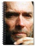 Clint Eastwood Portrait Spiral Notebook