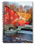 Clinton Mill In Winter Spiral Notebook