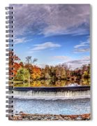 Clinton Nj Historic Red Mill Pano Spiral Notebook