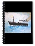 Clipper Epic Longline Fishing Boat Nautical Chart Map Art Spiral Notebook