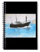 Clipper Express Longline Fishing Boat Nautical Chart Map Art Spiral Notebook