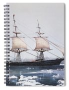 Clipper Ship Red Jacket In The Ice Off Cape Horn On Her Passage From Australia To Liverpool Spiral Notebook