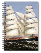 Clipper Ship Three Brothers Spiral Notebook