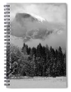 Cloaked In A Snow Storm - Monochrome Spiral Notebook