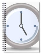Clock Five Spiral Notebook