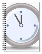Clock Five Mintures Before Twelve Spiral Notebook