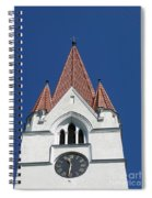 Clock Tower. Evangelic Lutheran Church. Silute. Lithuania. Spiral Notebook