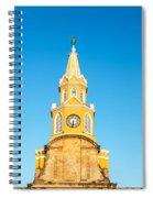 Clock Tower Of Cartagena Spiral Notebook