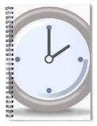 Clock Two Spiral Notebook
