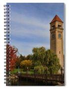 Clocktower Fall Colors Spiral Notebook