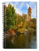 Clocktower In Fall Spiral Notebook