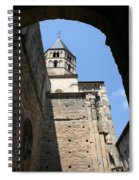 Cloister Cluny Church Steeple Spiral Notebook