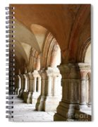 Cloister In Fontenay Abbey, France Spiral Notebook