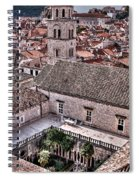 Cloistered Garden And Tower In The White City Spiral Notebook