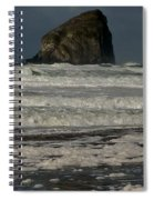 Close Haystack Rock Spiral Notebook