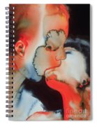 Close Up Kiss Spiral Notebook