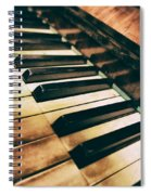 Close Up Of An Old Piano Spiral Notebook