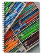 Close-up Of Color Pencils, Ishoj Spiral Notebook