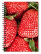 Close Up Of Delicious Strawberries Spiral Notebook