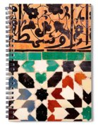 Close-up Of Design On A Wall, Ben Spiral Notebook