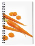 Close-up Of Fresh Carrots Spiral Notebook