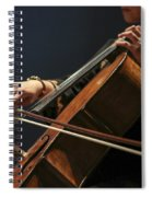 Close Up Of The Cellist's Hands Spiral Notebook