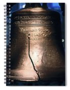 Close-up Of The Liberty Bell Spiral Notebook