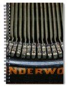 Close Up Of Vintage Typewriter Keys. Spiral Notebook
