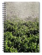 Close-up Of Water From A Sprinkler Spiral Notebook