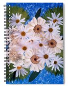 Close Up Of White Daisy Bouquet Spiral Notebook