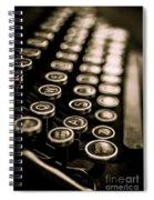Close Up Vintage Typewriter Spiral Notebook