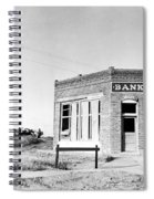 Closed Bank, 1936 Spiral Notebook