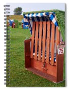 Closed Sunchairs Spiral Notebook